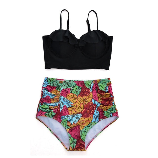 Juniors High Waist Bikini Set