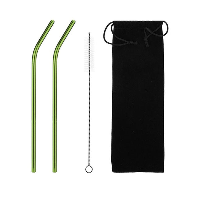 Stainless Steel Drinking Straws Reusable Eco Friendly