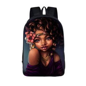 Afro Beauty Princess School Backpack
