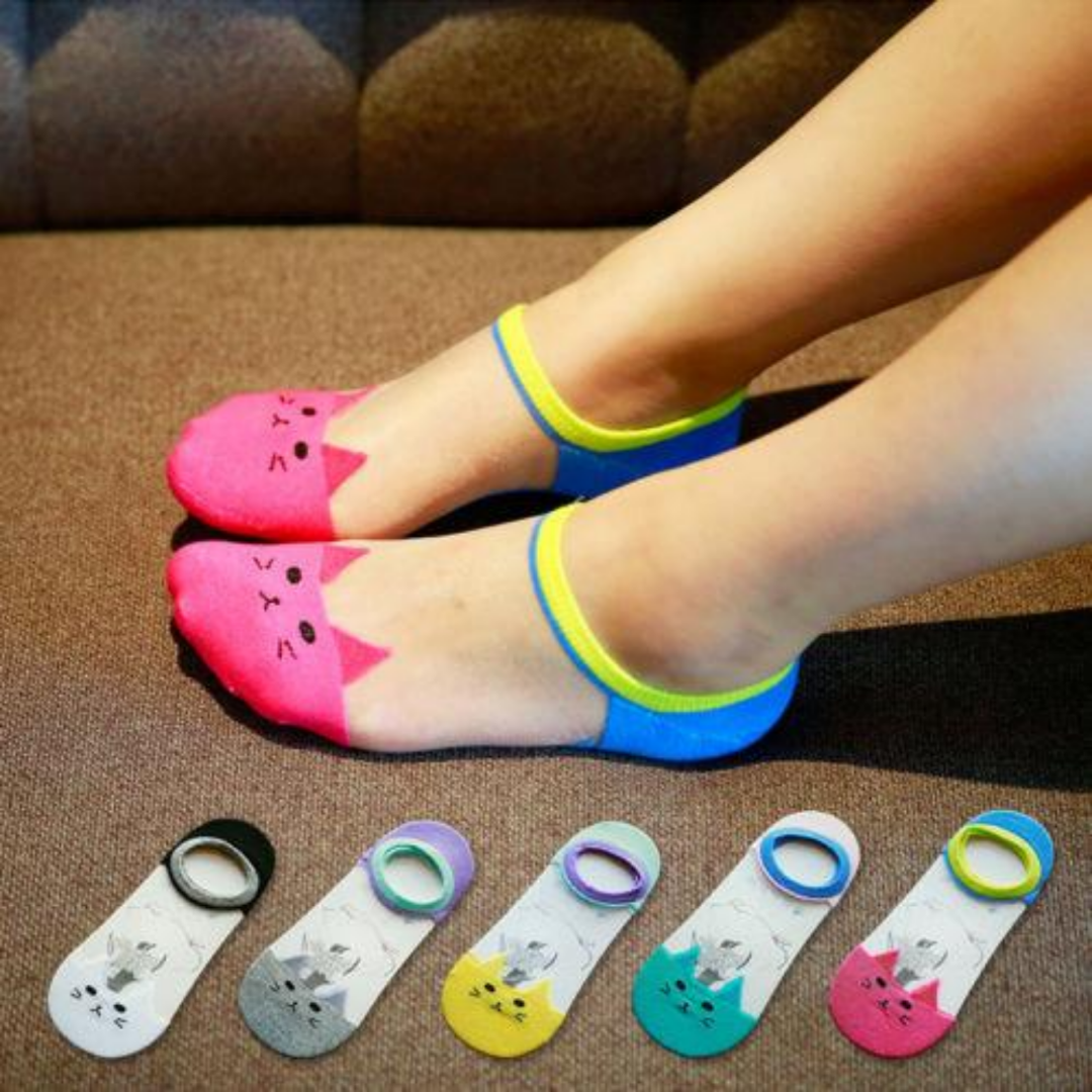 Low Cute Invisible Silk Cotton Socks