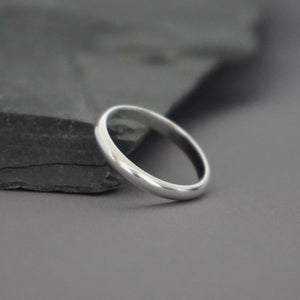 2mm Half-Round Band Ring