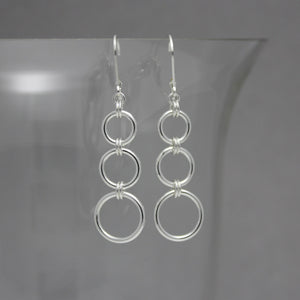Classic 3-SML Drop Earrings