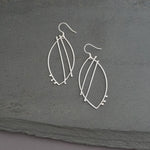 Abstract Line Leaf Earrings, v.1