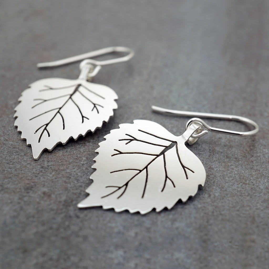Birch Leaf Earrings