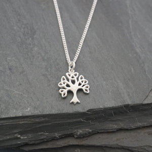 Celtic Tree with Knotted Leaves Pendant