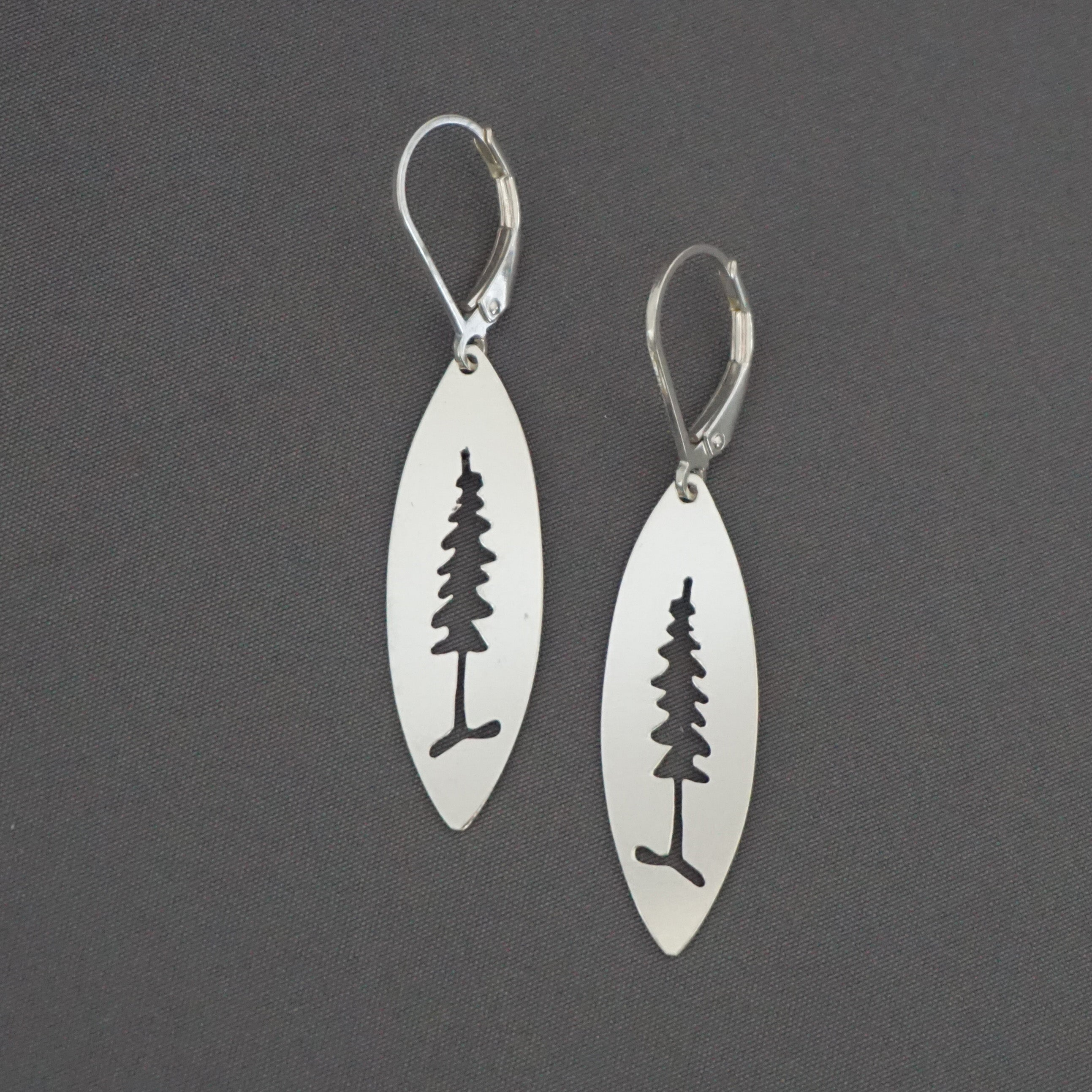 Marquise Pine Tree Earrings