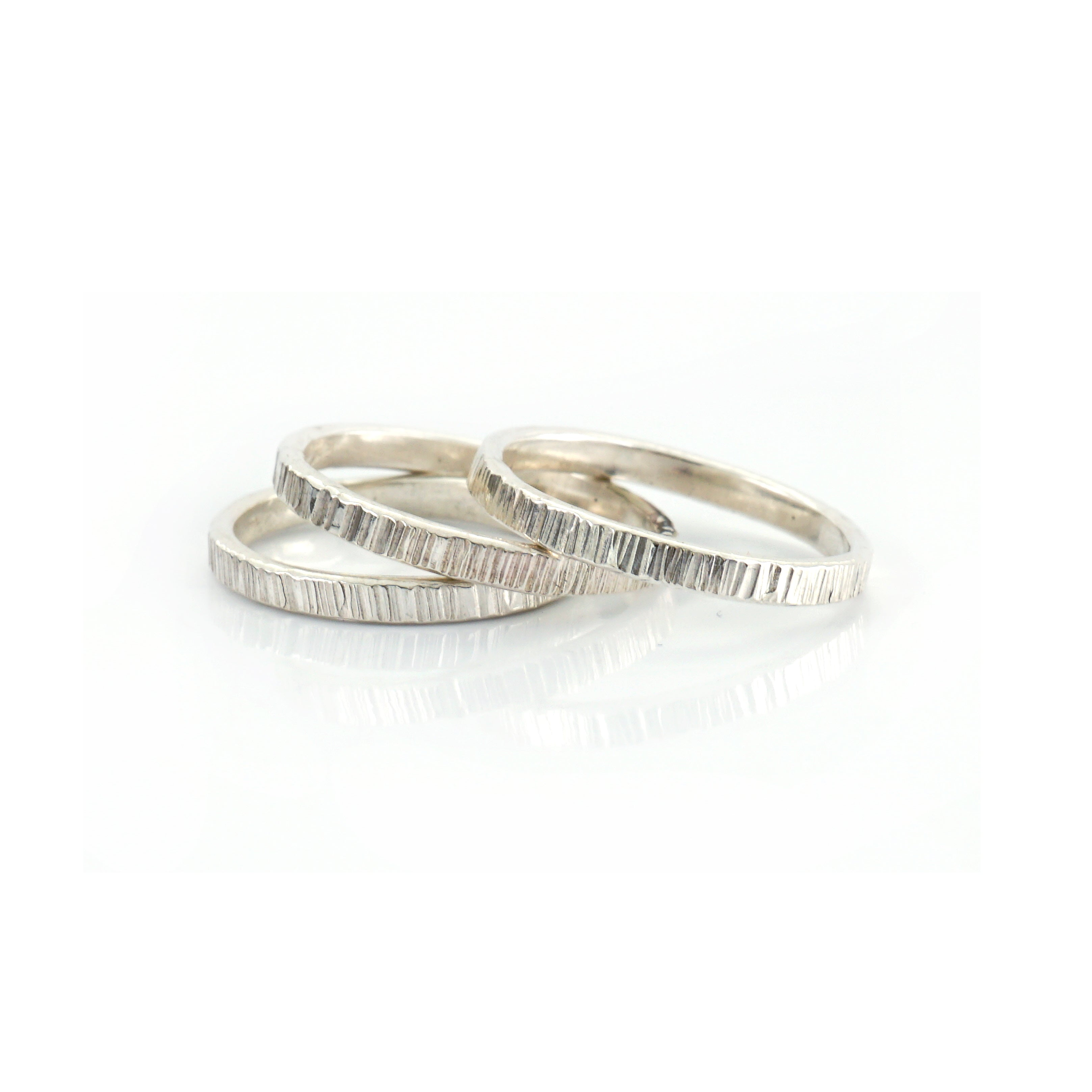 Line Hammered Rings