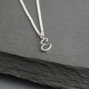 Pierced Initial Charm Necklace