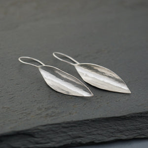 "Forged Leaf ""River Boat"" Earrings"