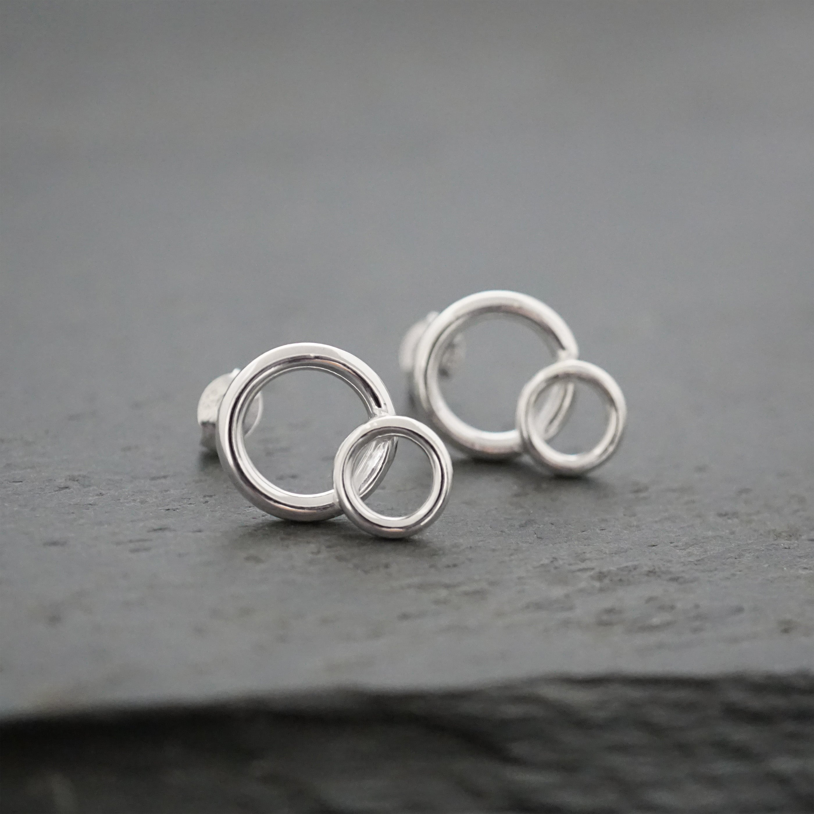 Large Double Circle Studs