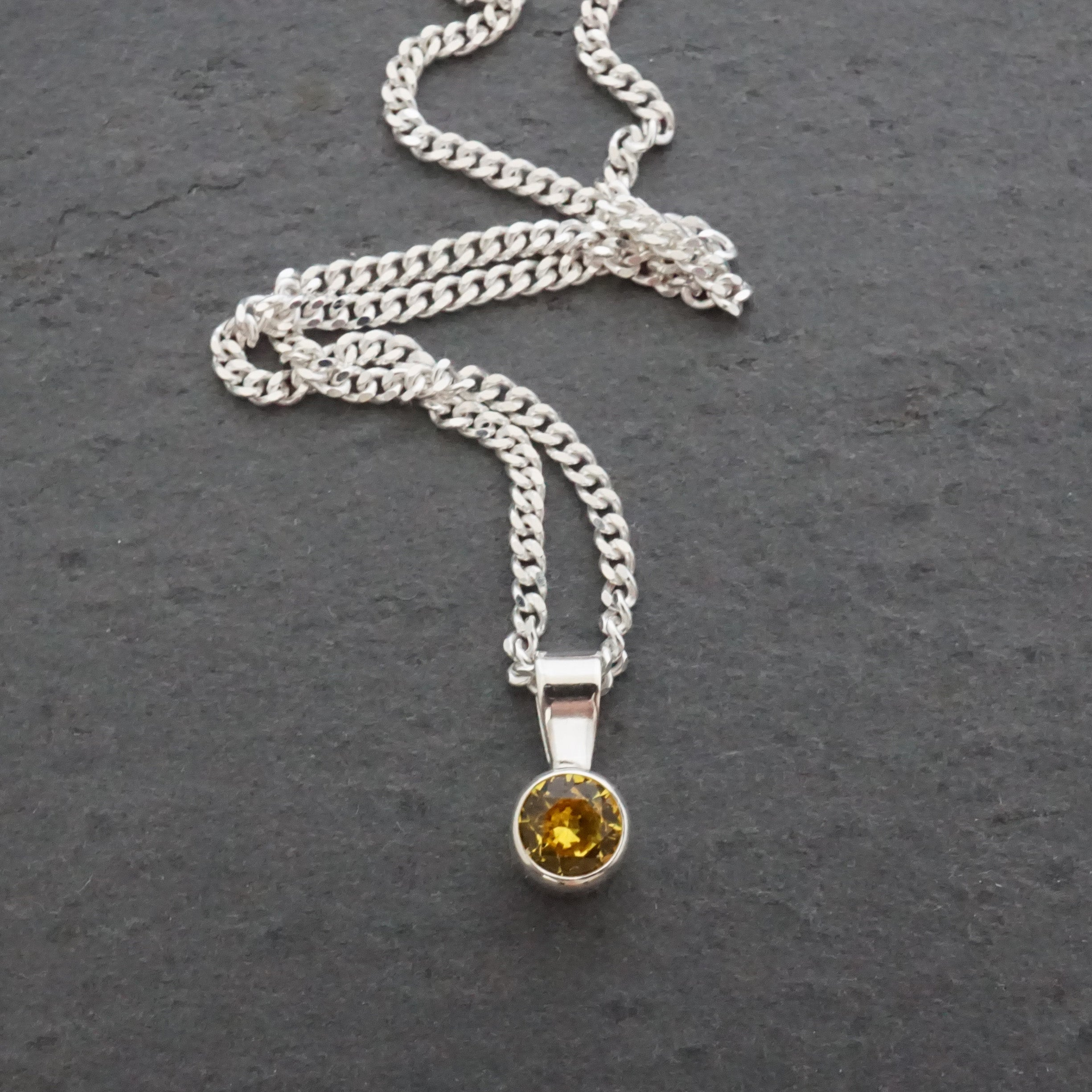 Tiny Birthstone Drop Pendant