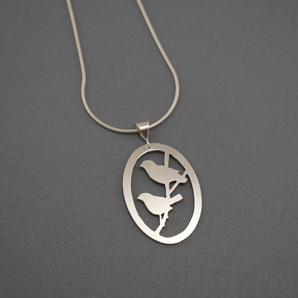 Two Finches Necklace