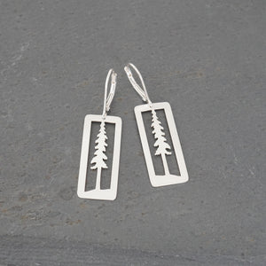 Tall Pine Rectangle Earrings