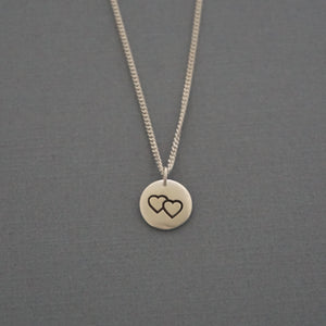 Double Heart Disc Charm (2016 Collec.)