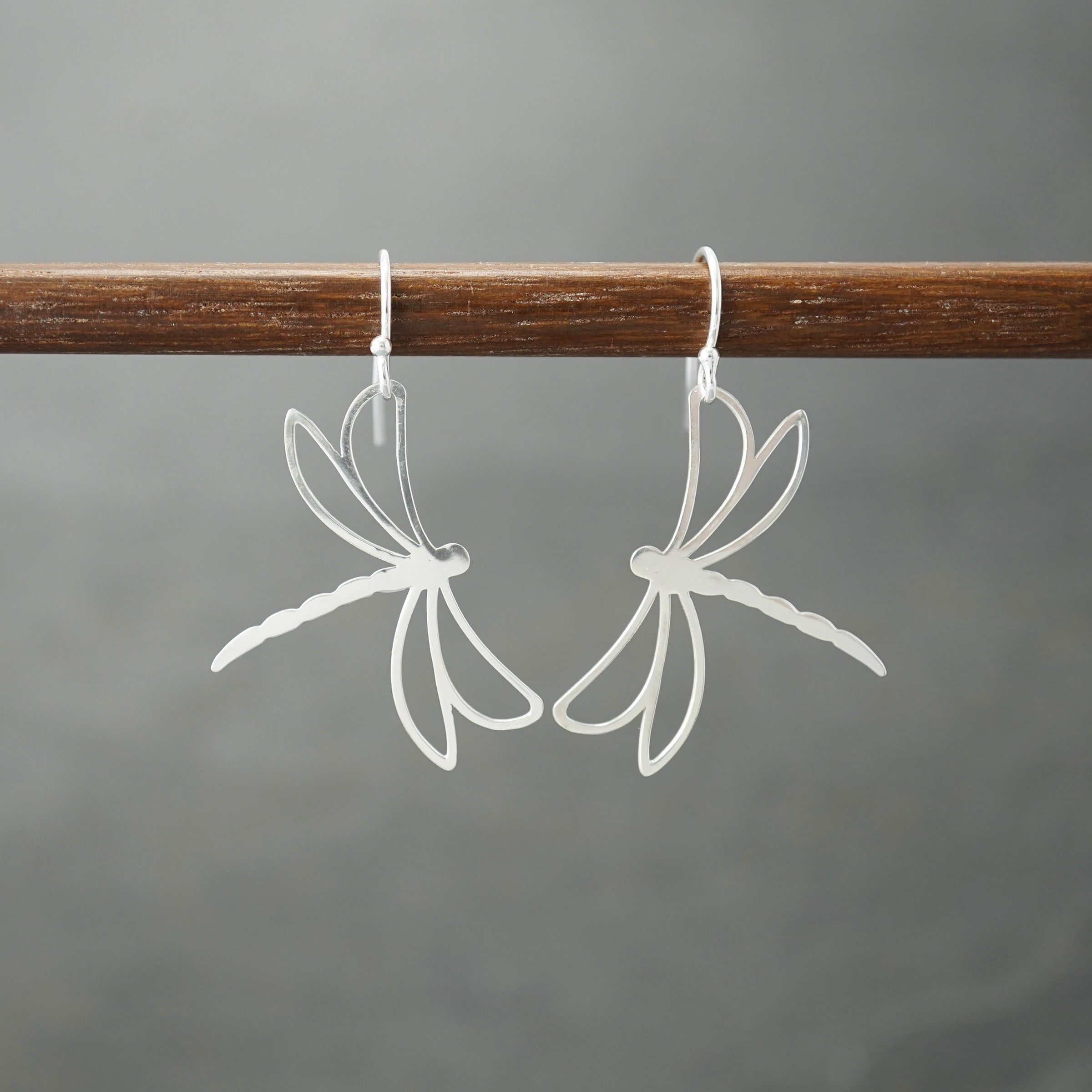 Dragonfly Outline Earrings