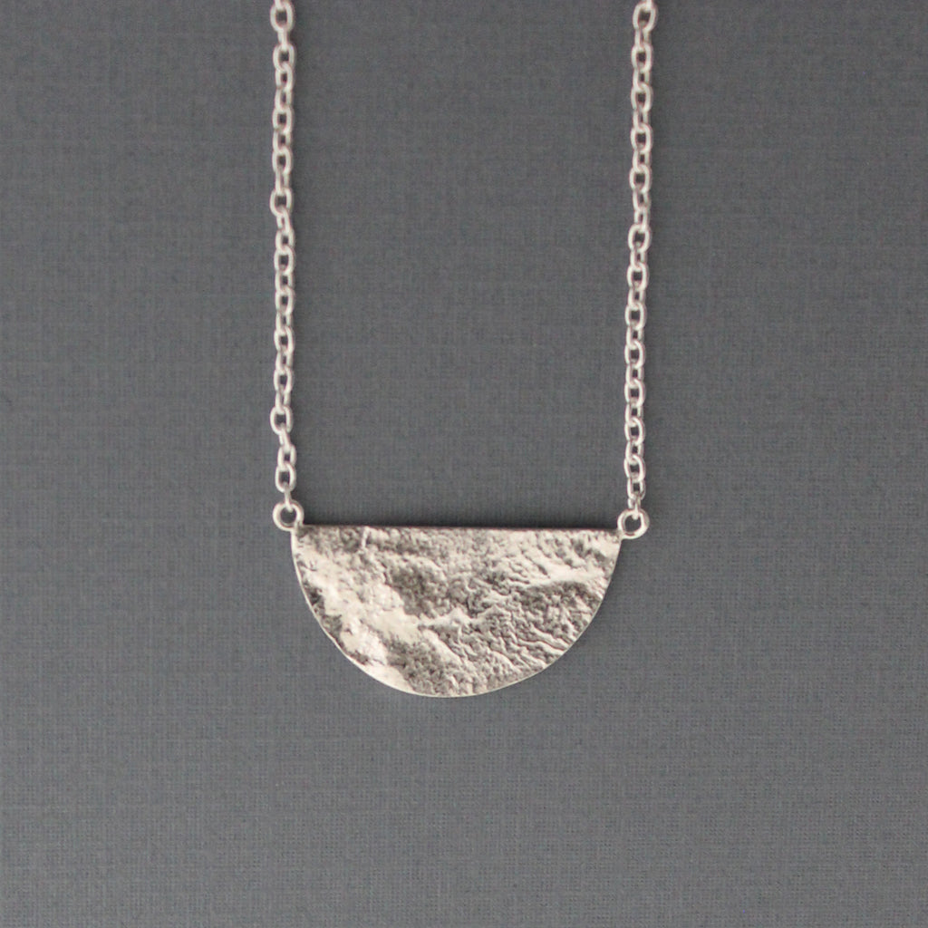 Half Moon Reticulated Pendant
