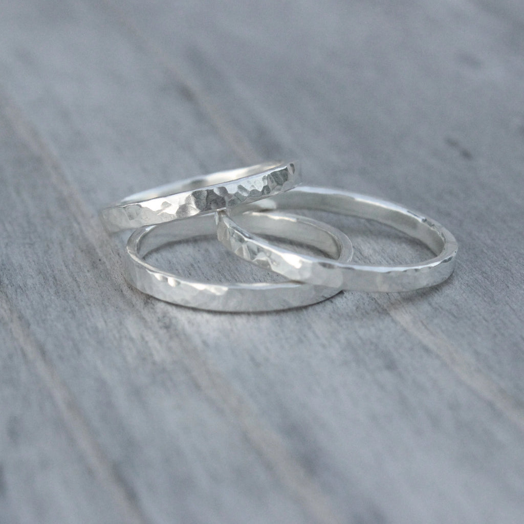 2mm Hammered Rings