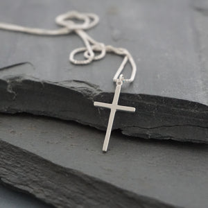 Thin Cross Necklace