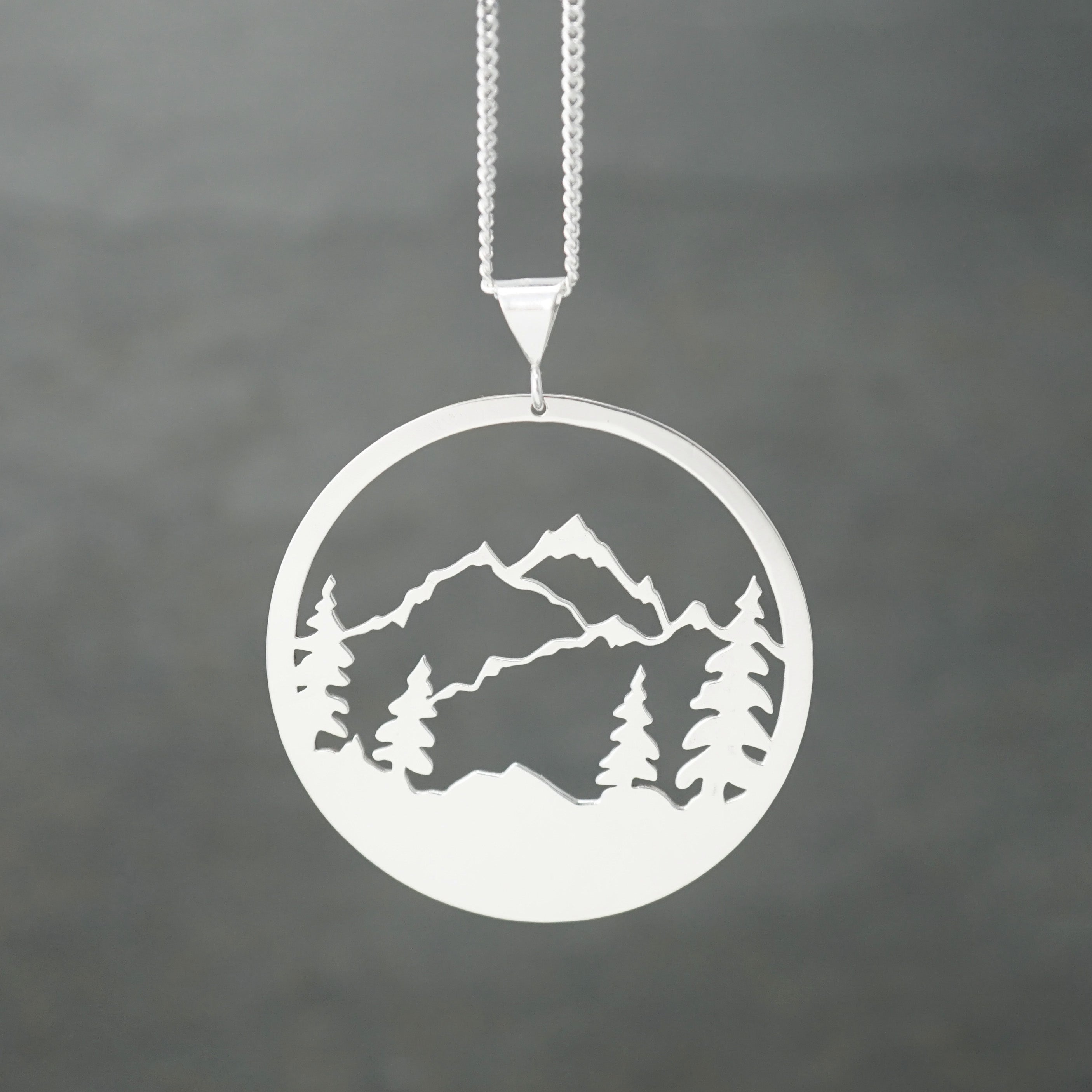 Detailed Mountains Pendant
