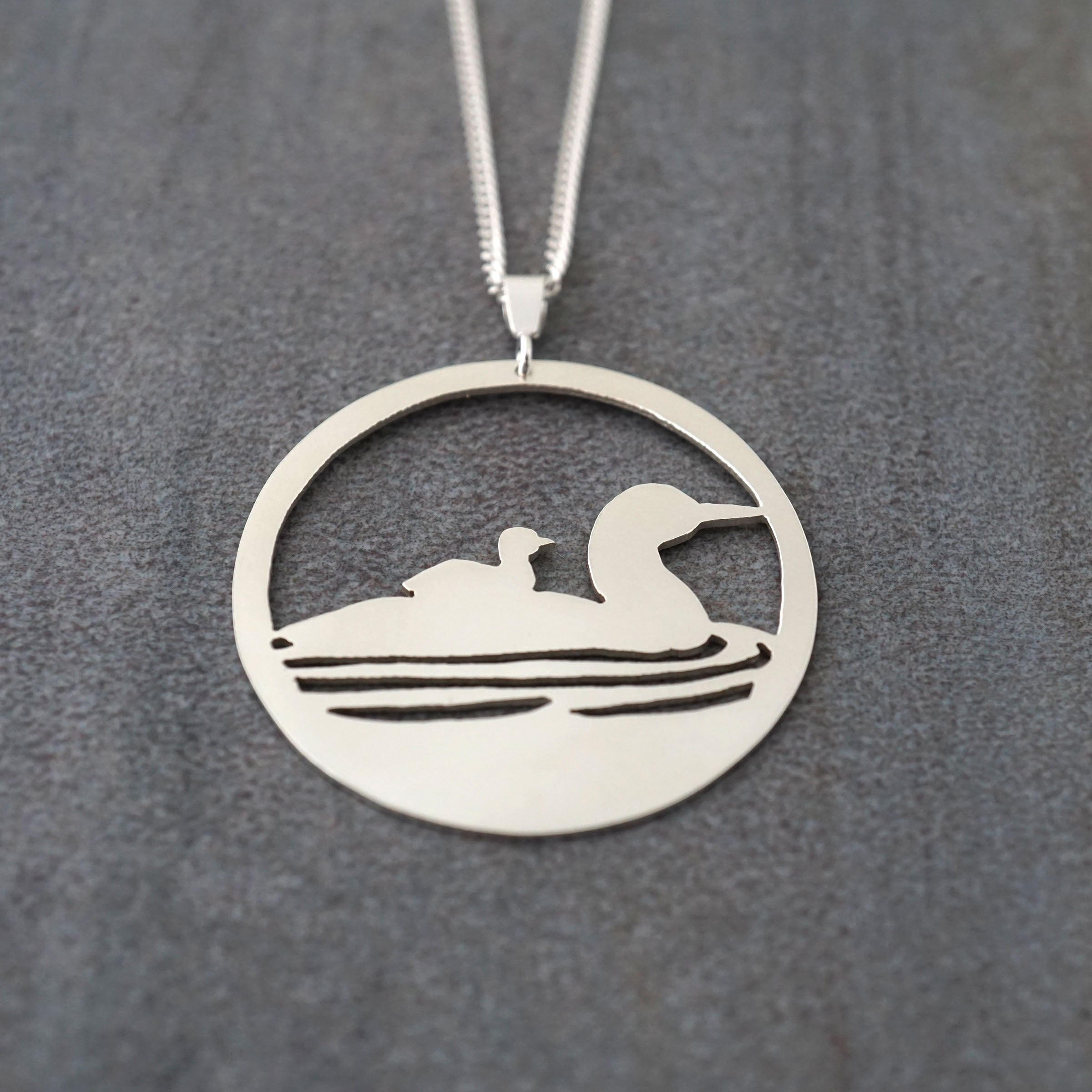 Mother & Child Loon Pendant