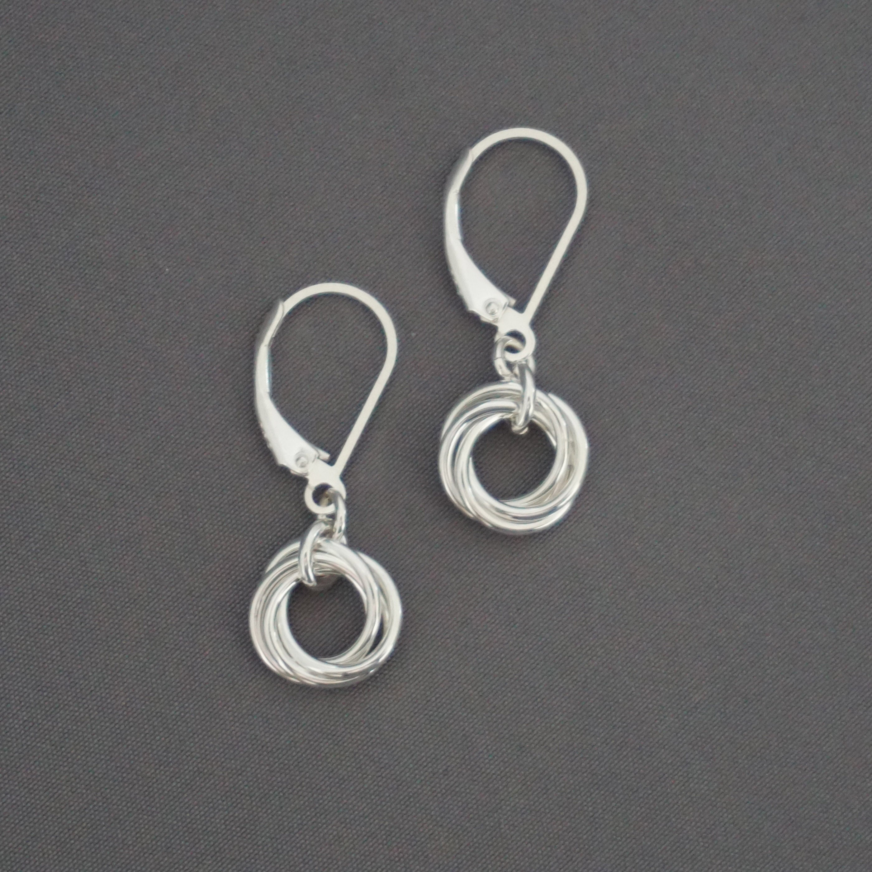 Nested Knot Drop Earrings