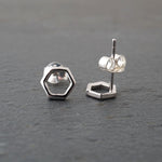 Open Hexagon Studs