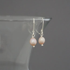 Single FWP Drop Earrings, Pink