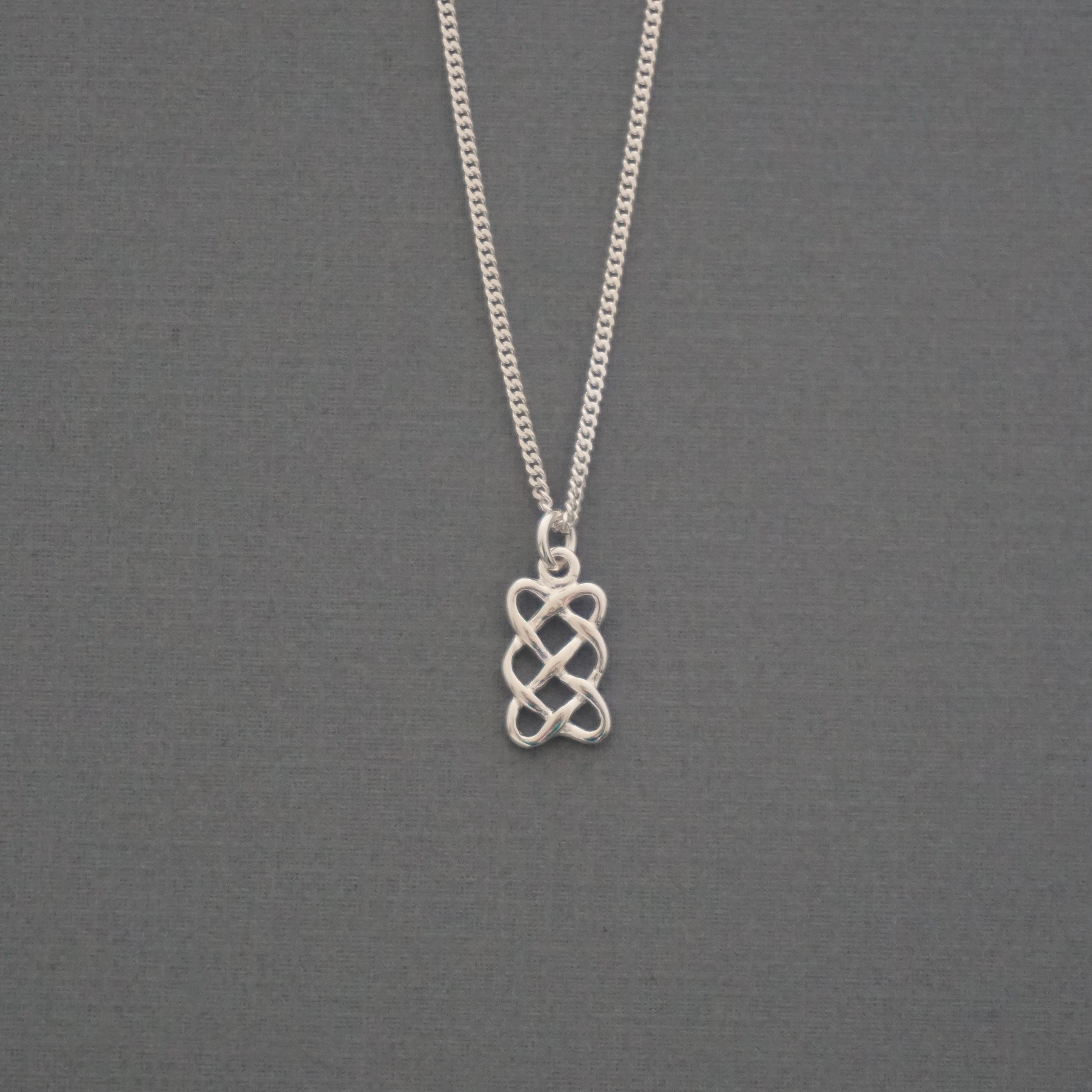 Rectangle Celtic Knot Necklace