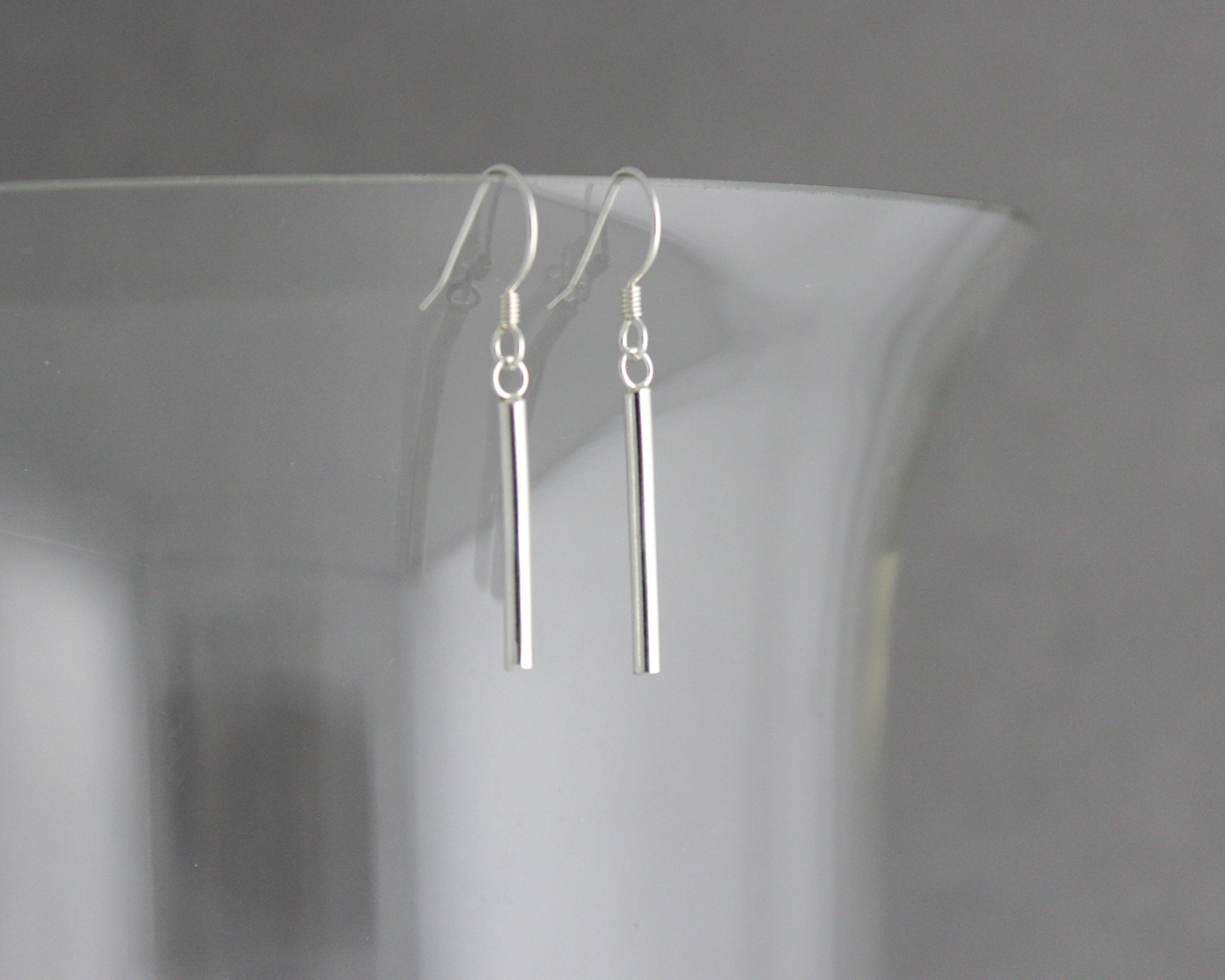 Sterling Tube Earrings