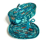 "Quilt Binding 8 yards 2.25 inch - 1 1/8"" Double Fold Cotton & Steel Lagoon Leafy Teal Radhida Coleman"
