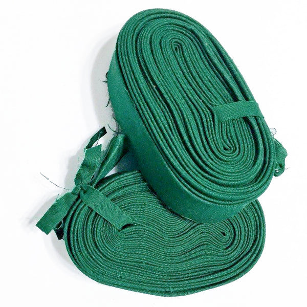 "Quilt Binding 8 yards 2.25 inch - 1 1/8"" Double Fold Robert Kaufman Kona Cotton in Pesto Green"