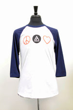 Load image into Gallery viewer, Peace Love Baseball Tee