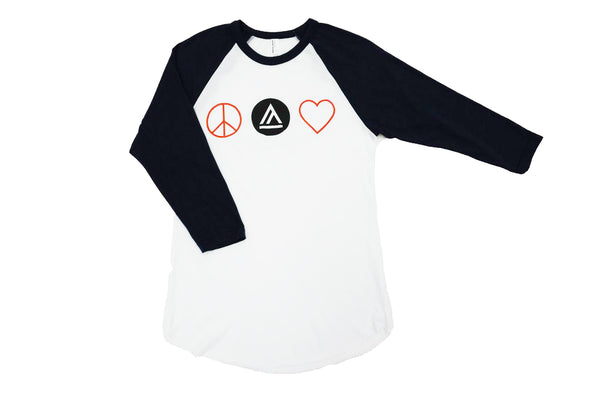 Peace Love Baseball Tee - Shop657
