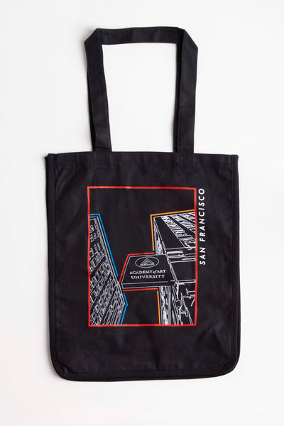 School Building Graphic Tote Bag