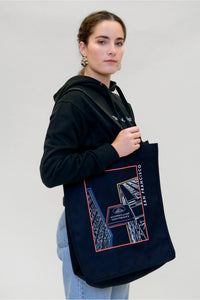 School Building Graphic Tote Bag - Shop657