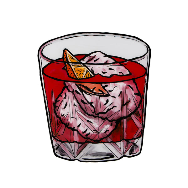 Billie Justice Thomson Limited Edition Framed Print - Campari and Lemonade