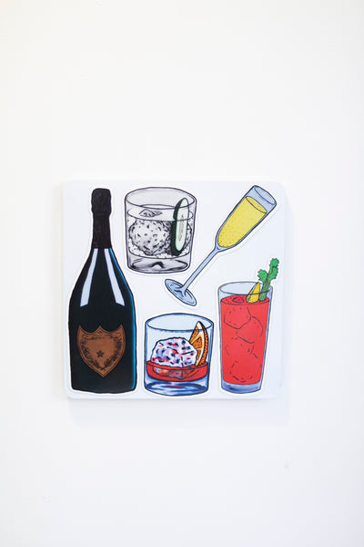 Billie Justice Thomson -Really Big Drink Magnet Set