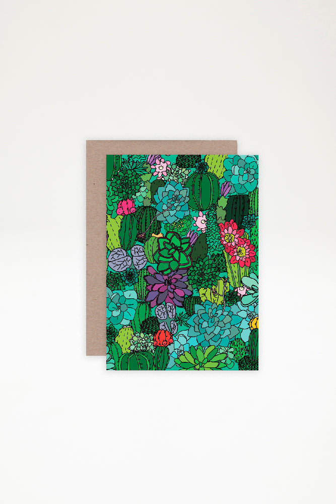 AHD Paper Co Greeting Card - Succulents