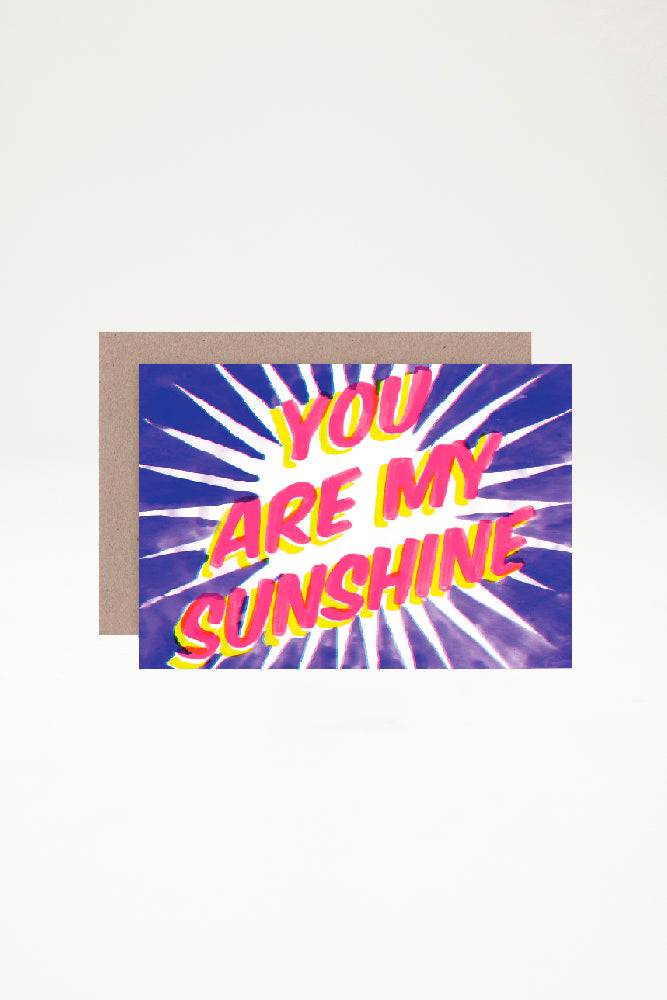 AHD Paper Co Greeting Card - You Are My Sunshine
