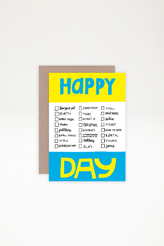 AHD Paper Co Greeting Card - Happy Different Day