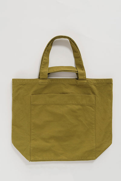 Baggu Giant Pocket Tote - Washed Spanish Olive