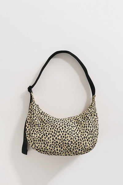 Baggu Medium Nylon Crescent Bag - Honey Leopard