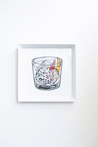 Billie Justice Thomson Limited Edition Framed Print - Gin Pink Grapefruit