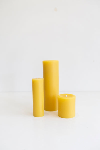 Australian Beeswax Candle - Pillar Candle 8cm x 8.5cm