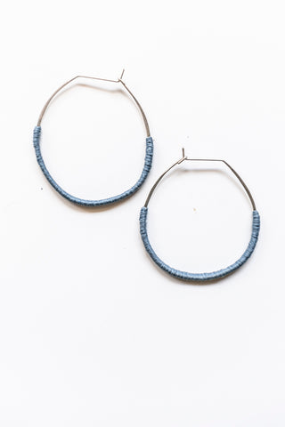 Lilly Buttrose - Woven Blue Earrings