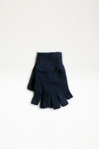 Possum Merino Open Finger Gloves - Navy
