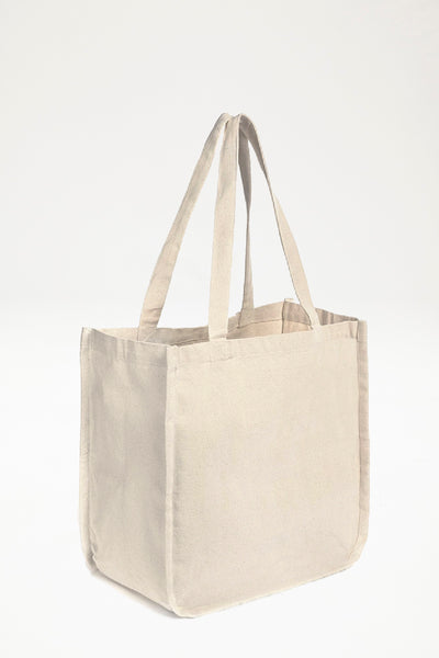 Organic Cotton Canvas Large Divider Shopper - Natural
