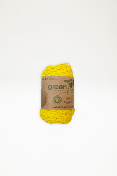 Organic Cotton Long Handle Mesh Bag - Sunshine