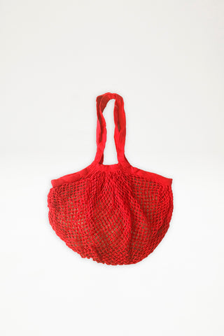 Organic Cotton Long Handle Mesh Bag - Tomato