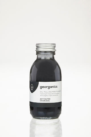 Georganics Oil Pulling Mouthwash - Activated Charcoal